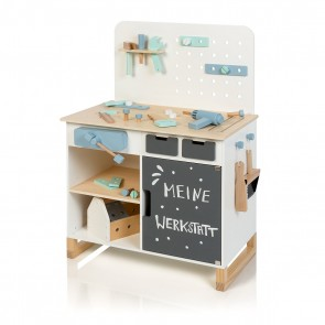 Wooden Workbench Fagus in White/ Natural