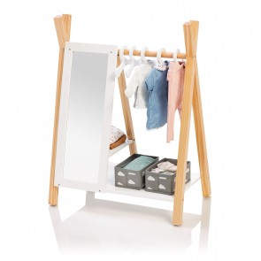 Doll Wardrobe Barlia in Natural/ White