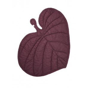 Leaf Blanket Burgundy