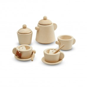 Wooden Tea Set Natural