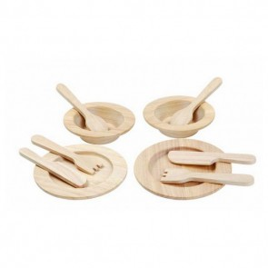 Wooden Tableware Set Natural