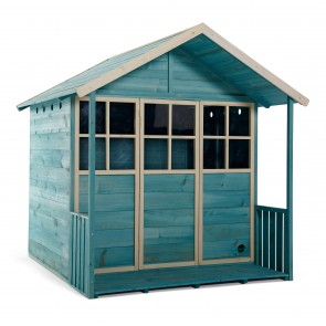 Plum Deckhouse Wooden Playhouse in Teal