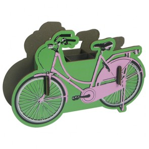 Pink Bicycle Pencil Holder