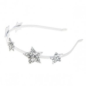 Glitter Star Hair Band in Silver