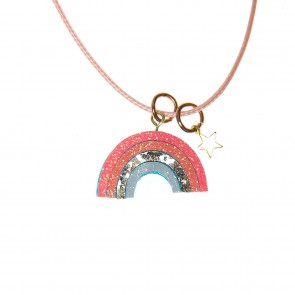 Bright Rainbow Necklace
