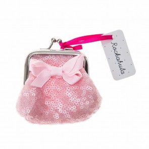 Mini Sequin Purse in Pale Pink