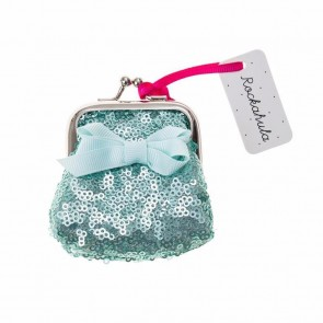Mini Sequin Purse in Aqua