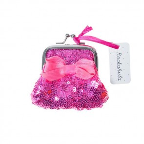 Mini Sequin Purse in Rasberry