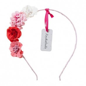 Tallulah Flower Hair Band in Pink