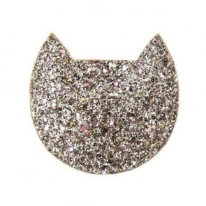 Cat Glitter Purse in Gold