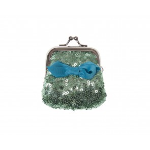 Mini Sequin Purse in Green