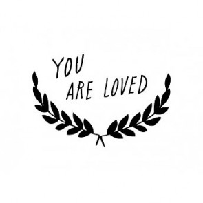 'You are loved' Wall Decal in Black