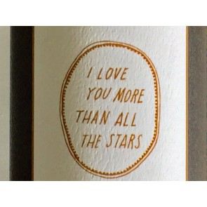 'I love you more than all the stars' Wall Decal in Gold