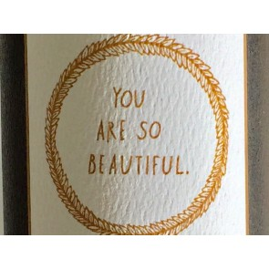 'You are so beautiful' Wall Decal in Gold