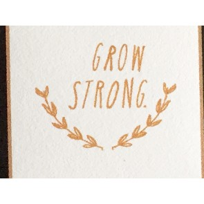 'Grow Strong' Wall Decal in Gold