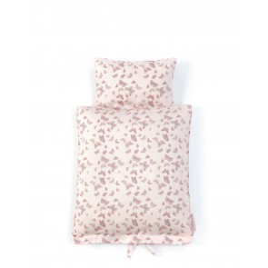 Doll Bedding with Butterfly in Rose
