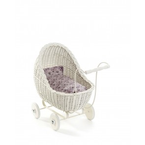 Doll Pram in White