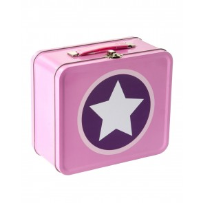 Star Metal Suitcase in Rose