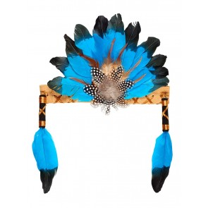 Leyati Indian Feather Head Band Aqua