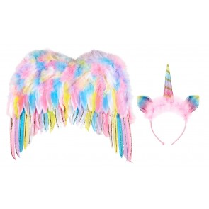 Unicorn Set with Wings and Hairband