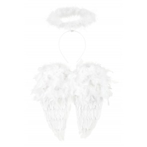 Angel Set with Wings and Halo