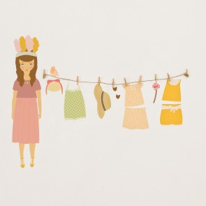 Spring Doll Wall Sticker