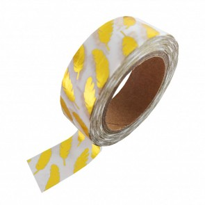 Washi Tape Gold Foil with Feahthers