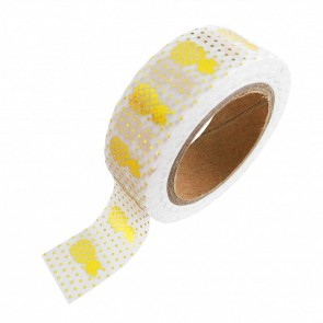 Washi Tape Gold Foil with Pineapples