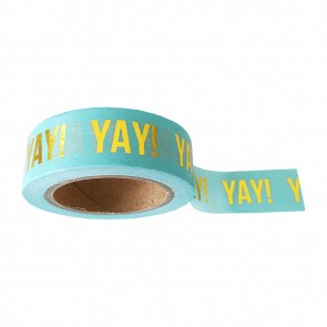 Washi Tape Mint 'Yay'