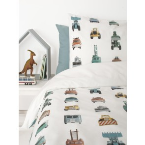 Single Bed Duvet Cover Work Vehicles