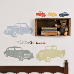 Vintage Cars Wall Sticker