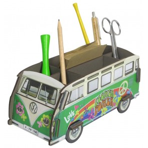 Volkswagen Van Pencil Holder Flower Power