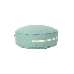 Round Floor Cushion in Olive Green