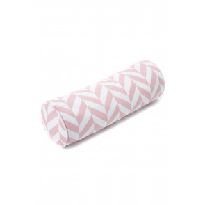 Roll Cushion Herringbone in Pink