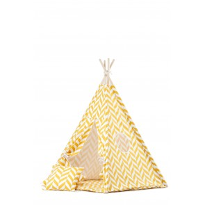Teepee Set with Yellow Herringbone