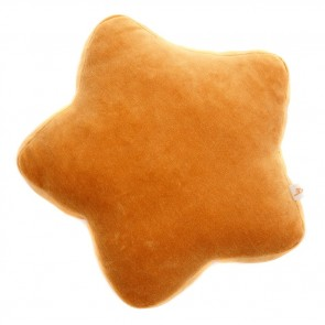 Small Velvet Star Cushion Mustard