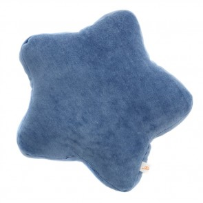 Small Velvet Star Cushion Royal Blue