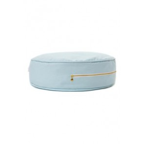 Round Floor Cushion in Plain Blue
