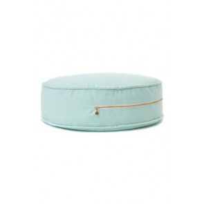 Round Floor Cushion in Plain Mint