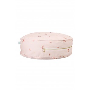 Round Floor Cushion in Misty Rose