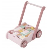Wooden Baby Walker in Adventure Pink