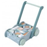 Wooden Baby Walker in Adventure Blue