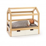 Doll House Bed Viola in Natural/ White