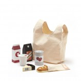 Wooden Toy Grocery Shopping Set With Bag