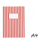 DIN A4 Elasticated Folder with Red Stripes