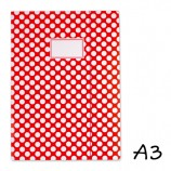 DIN A3 Elasticated Folder Red with Dots