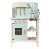 Wooden Kitchen in Adventure Blue