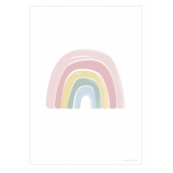 Double-Sided Poster Rainbow/ ABC Pink