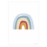 Double-Sided Poster Rainbow/ ABC Blue