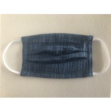 Muslin Mouth and Nose Mask in Dark Blue - Age 3-7 Years